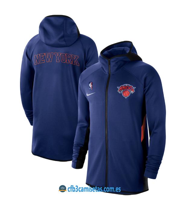 CFB3-Camisetas Chaqueta con capucha New York Knicks - Blue