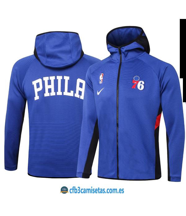 CFB3-Camisetas Chaqueta con capucha Philadelphia 76ers - Blue