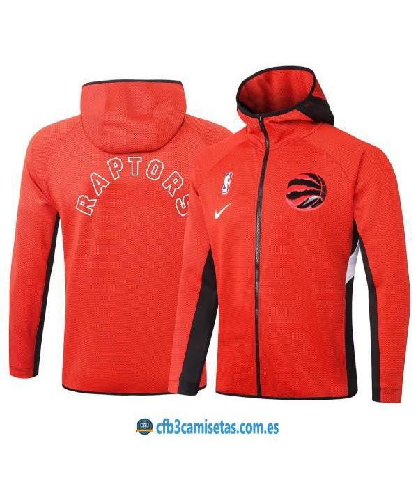 CFB3-Camisetas Chaqueta con capucha Toronto Raptors - Red