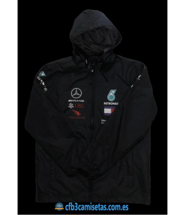 CFB3-Camisetas Chaqueta para lluvia Mercedes AMG Petronas 2020