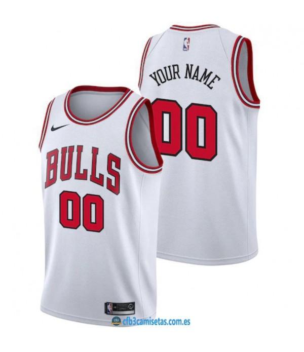 CFB3-Camisetas Custom Chicago Bulls - Association