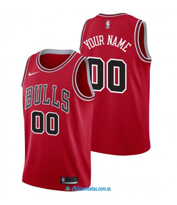 CFB3-Camisetas Custom Chicago Bulls - Icon
