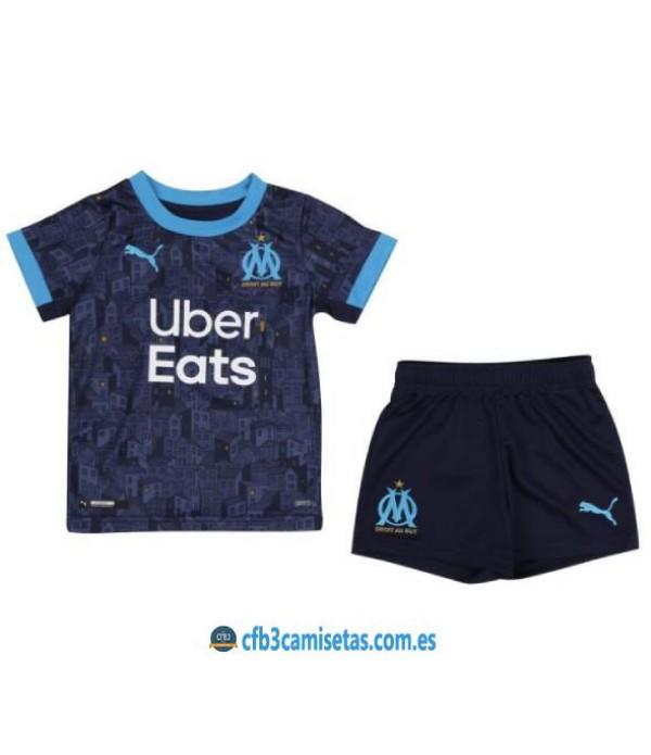 CFB3-Camisetas Olympique Marsella 2a Equipación 2020/21 Kit Junior