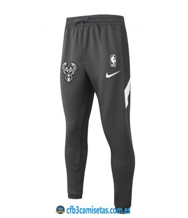 CFB3-Camisetas Pantalón Thermaflex Milwaukee Bucks - Black