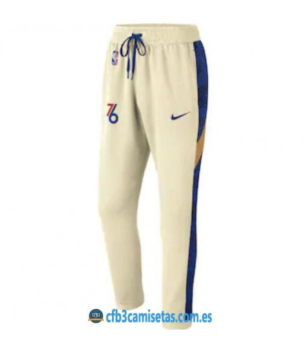 CFB3-Camisetas Pantalón Thermaflex Philadelphia 76ers - Cream