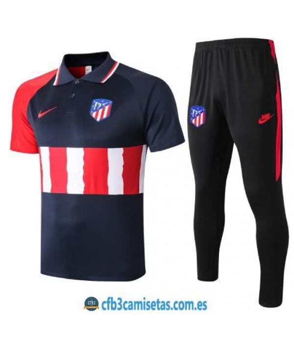 CFB3-Camisetas Polo Pantalones Atlético Madrid 2020/21