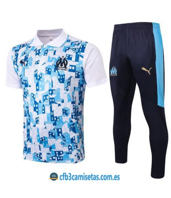 CFB3-Camisetas Polo Pantalones Olympique Marsella 2020/21