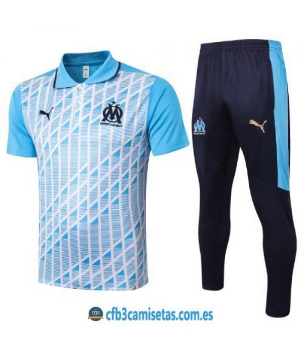 CFB3-Camisetas Polo Pantalones Olympique Marsella 2020/21 Azul