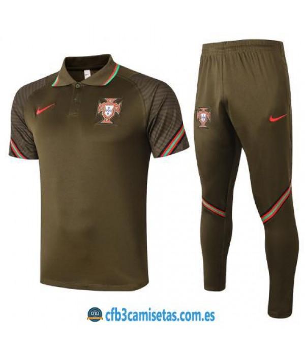 CFB3-Camisetas Polo Pantalones Portugal 2020/21