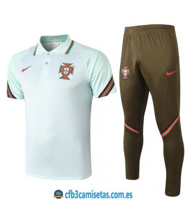 CFB3-Camisetas Polo Pantalones Portugal 2020/21 Azul