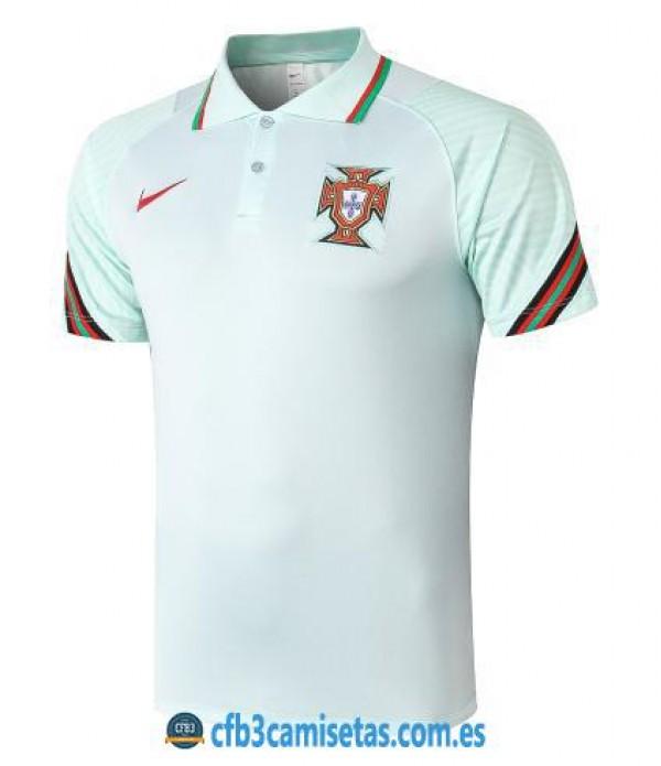 CFB3-Camisetas Polo Portugal 2020/21 Azul