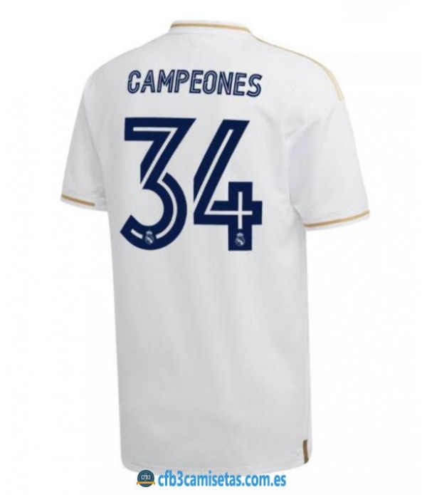 CFB3-Camisetas Real Madrid 2019/2020 - Especial CAMPEÓN 34 LIGAS