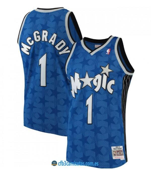 CFB3-Camisetas Tracy McGrady Orlando Magic Mitchell&Ness - Blue