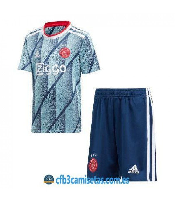 CFB3-Camisetas Ajax Amsterdam 2a Equipación 2020/21 Kit Junior
