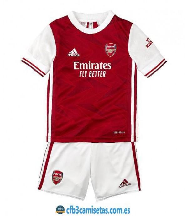 CFB3-Camisetas Arsenal 1a Equipación 2020/21 Kit Junior