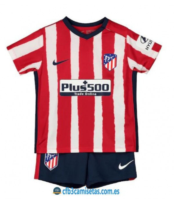 CFB3-Camisetas Atlético Madrid 1a Equipación 2020/21 Kit Junior