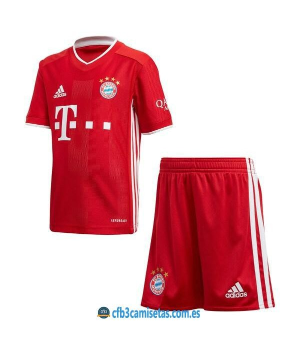 CFB3-Camisetas Bayern Munich 1a Equipación 2020/21 Kit Junior