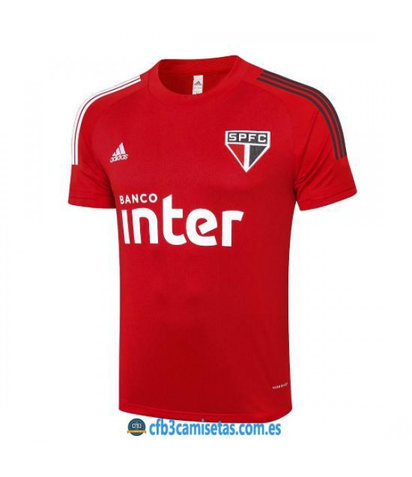 CFB3-Camisetas Camiseta Entrenamiento Sao Paulo 2020/21 Roja