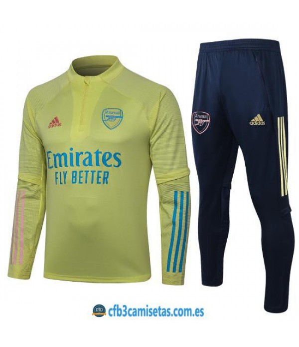 CFB3-Camisetas Chándal Arsenal 2020/21 Amarillo