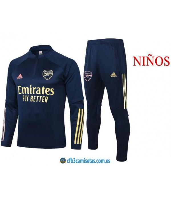 CFB3-Camisetas Chándal Arsenal 2020/21 Emirates - NIÑOS