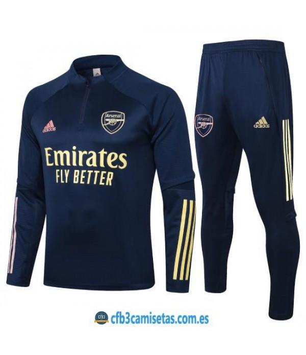 CFB3-Camisetas Chándal Arsenal 2020/21 Negro 2