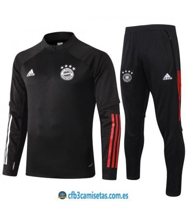 CFB3-Camisetas Chándal Bayern Munich 2020/21 Negro
