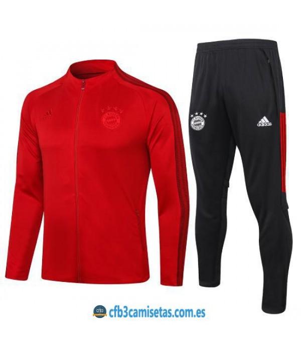 CFB3-Camisetas Chándal Bayern Munich 2020/21 Rojo