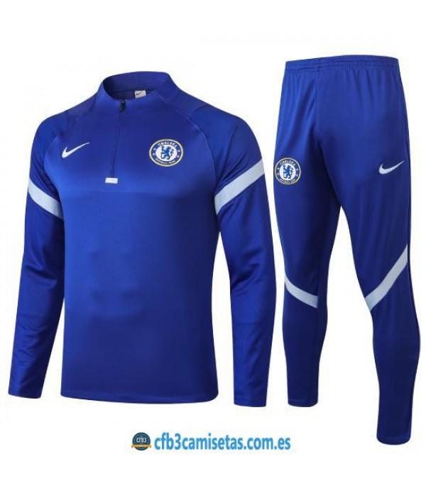 CFB3-Camisetas Chándal Chelsea 2020/21 Azul
