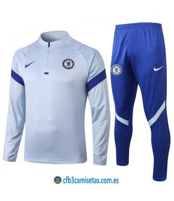 CFB3-Camisetas Chándal Chelsea 2020/21 Blanco 2