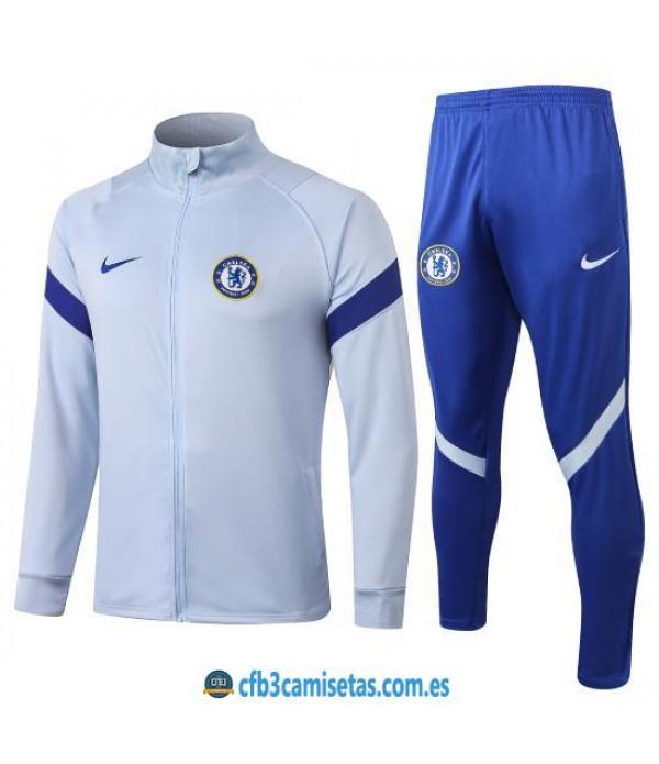 CFB3-Camisetas Chándal Chelsea 2020/21 Blanco