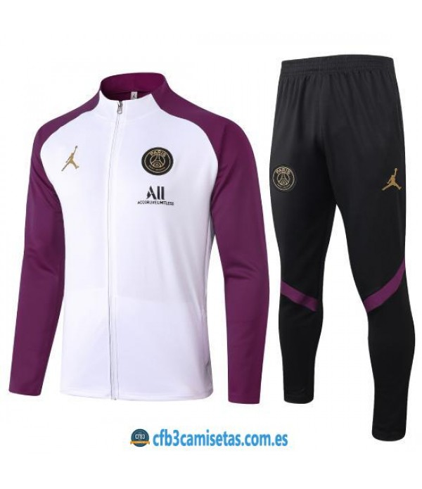 CFB3-Camisetas Chándal PSG 2020/21 Morado