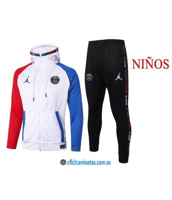 CFB3-Camisetas Chándal PSG x Jordan 2020/21 - NIÑOS