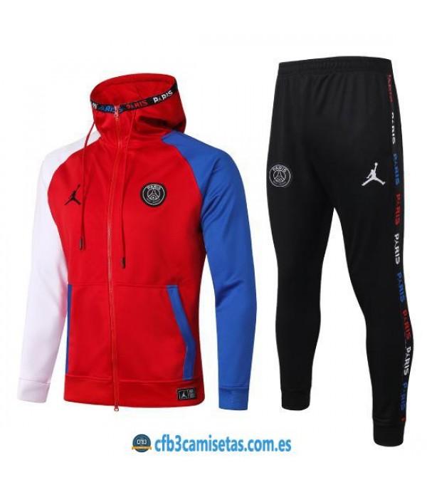CFB3-Camisetas Chándal PSG x Jordan 2020/21 - Rojo