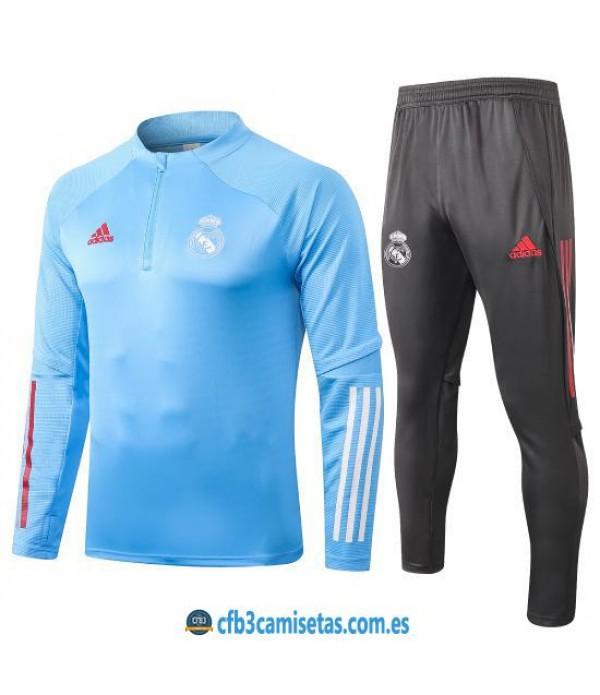 CFB3-Camisetas Chándal Real Madrid 2020/21 - Azul 2