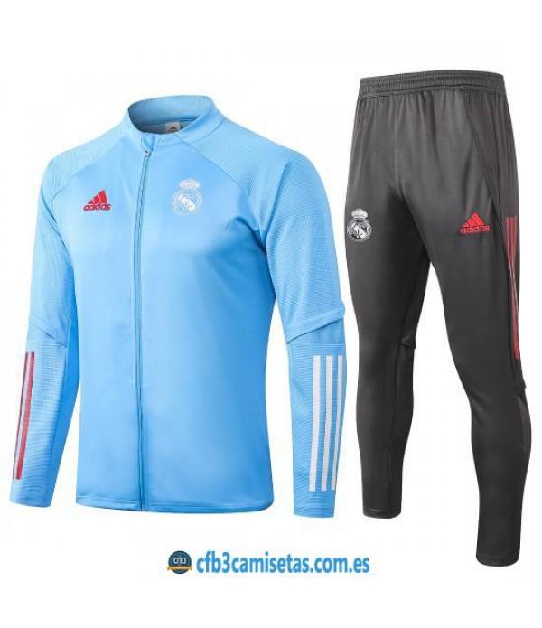 CFB3-Camisetas Chándal Real Madrid 2020/21 - Azul