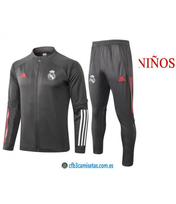 CFB3-Camisetas Chándal Real Madrid 2020/21 - NIÑOS