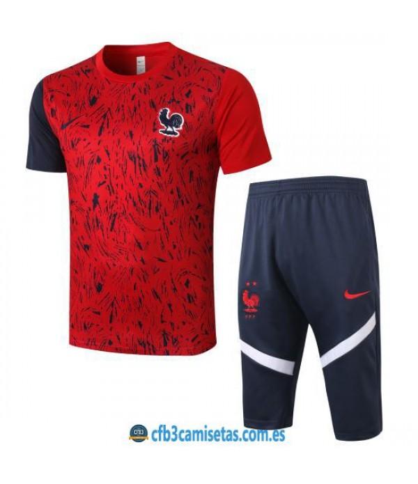 CFB3-Camisetas Kit Entrenamiento Francia 2020/21 - Rojo