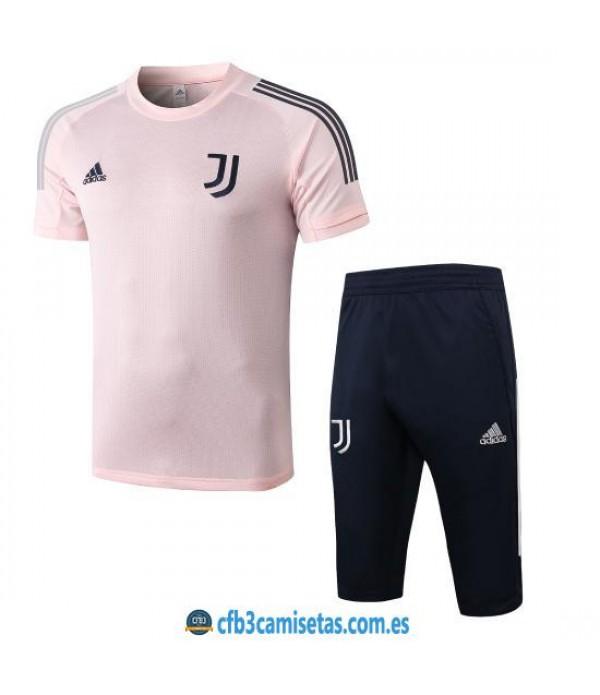 CFB3-Camisetas Kit Entrenamiento Juventus 2020/21 Rosa