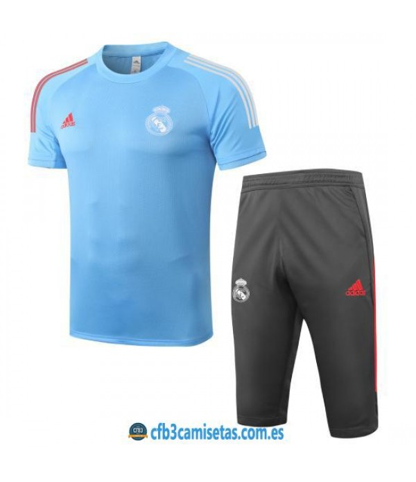 CFB3-Camisetas Kit Entrenamiento Real Madrid 2020/21 Azul