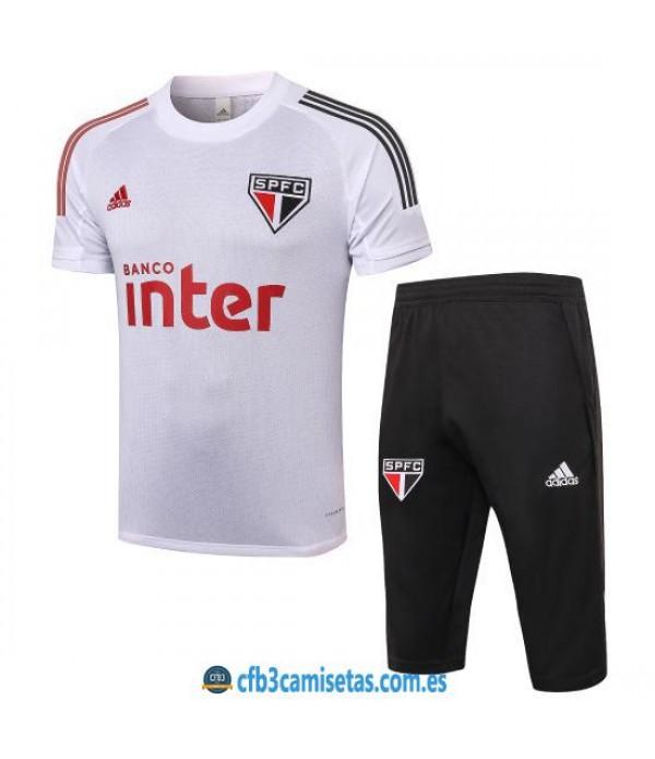 CFB3-Camisetas Kit Entrenamiento Sao Paulo 2020/21