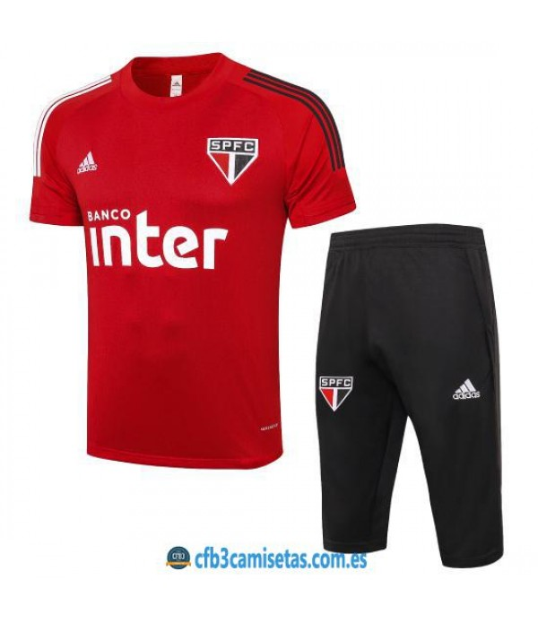 CFB3-Camisetas Kit Entrenamiento Sao Paulo 2020/21 Rojo
