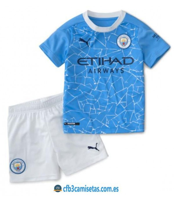 CFB3-Camisetas Manchester City 1a Equipación 2020/21 Kit Junior