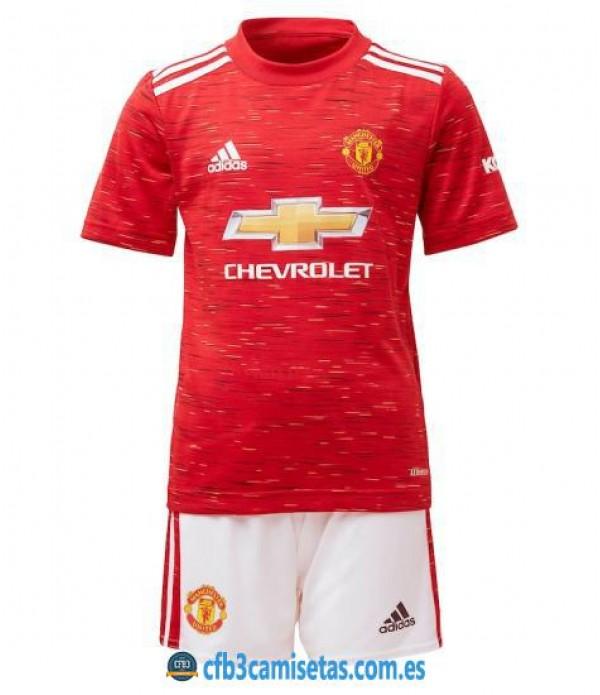 CFB3-Camisetas Manchester United 1a Equipación 2020/21 - NIÑOS