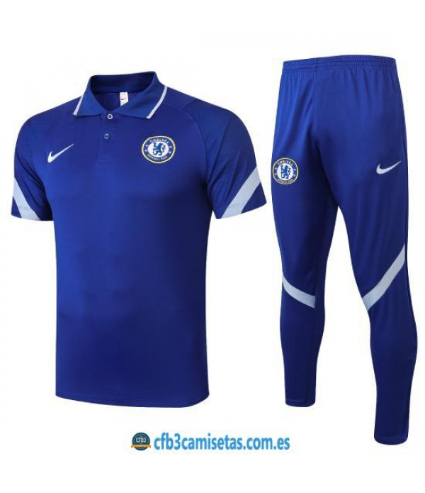 CFB3-Camisetas Polo Pantalones Chelsea 2020/21