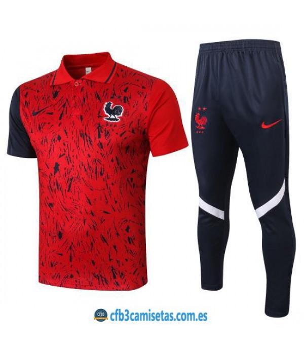 CFB3-Camisetas Polo Pantalones Francia 2020/21
