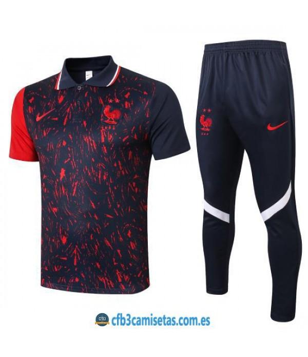 CFB3-Camisetas Polo Pantalones Francia 2020/21 Away