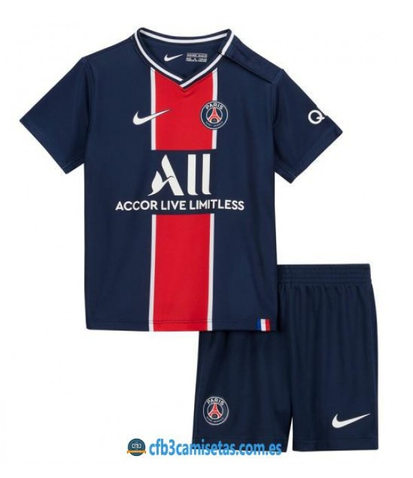 CFB3-Camisetas PSG 1a Equipación 2020/21 Kit Junior