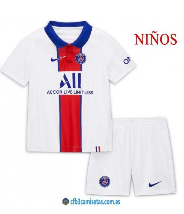 CFB3-Camisetas PSG 2a Equipación 2020/21 - NIÑOS