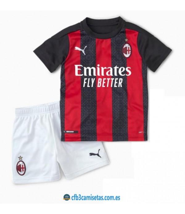 CFB3-Camisetas AC Milan 1a Equipación 2020/21 - NIÑOS