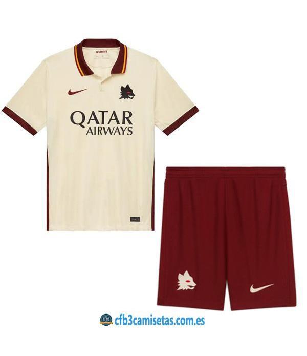 CFB3-Camisetas As roma 2a equipación 2020/21 - niÑos